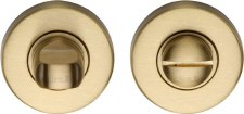 Heritage V4049 Bathroom Thumb Turn & Release Satin Brass Lacquered