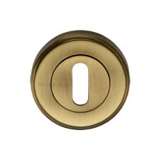 Heritage V5000 Escutcheon Antique Brass Lacquered