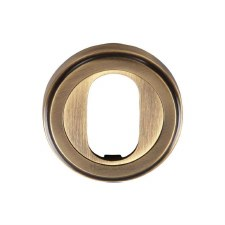 Heritage V5010 Oval Profile Escutcheon Antique Brass Lacquered