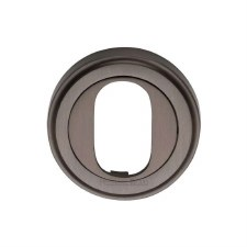 Heritage V5010 Oval Profile Escutcheon Matt Bronze Lacquered