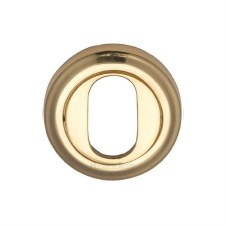 Heritage V5010 Oval Profile Escutcheon Polished Brass Lacquered