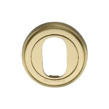 Heritage V5010 Oval Profile Escutcheon Satin Brass Lacquered