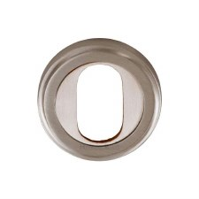 Heritage V5010 Oval Profile Escutcheon Satin Nickel