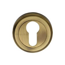 Heritage V5020 Euro Profile Escutcheon Antique Brass Lacquered