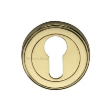 Heritage V5020 Euro Profile Escutcheon Polished Brass Lacquered
