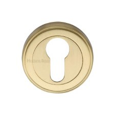 Heritage V5020 Euro Profile Escutcheon Satin Brass Lacquered