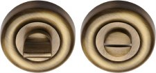 Heritage V6720 Bathroom Thumb Turn & Release Antique Brass Lacquered