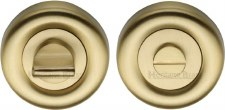 Heritage V6720 Bathroom Thumb Turn & Release Satin Brass