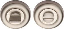 Heritage V6720 Bathroom Thumb Turn & Release Satin Nickel