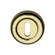 Heritage V6722 Escutcheon Polished Brass Lacquered