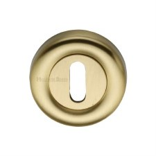 Heritage V6722 Escutcheon Satin Brass Lacquered