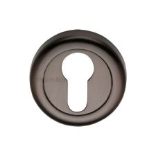 Heritage V6724 Euro Profile Escutcheon Matt Bronze Lacquered