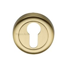 Heritage V6724 Euro Profile Escutcheon Satin Brass Lacquered
