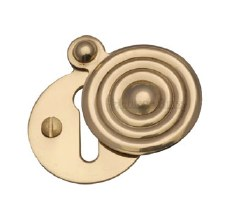 Heritage V972 Reeded Covered Escutcheon Polished Brass