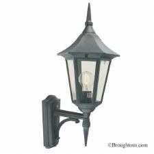 Elstead Valencia Outdoor Wall Uplight Lantern Black/Gold