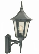 Elstead Valencia Outdoor Wall Uplight Lantern Black