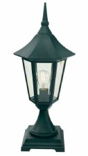 Elstead Valencia Pedestal Lantern Light Black