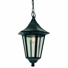 Elstead Valencia Hanging Outdoor Chain Lantern Light Black