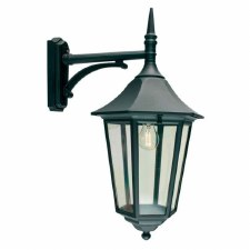 Elstead Valencia Grande Large Outdoor Wall Light Lantern Black
