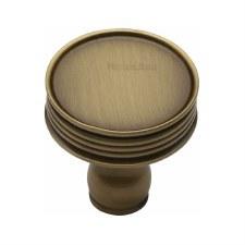 Heritage Venetian Cabinet Knob C4547 Antique Brass