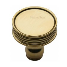 Heritage Venetian Cabinet Knob C4547 Polished Brass