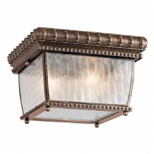 Kichler Venetian Rain Flush Ceiling Light Brushed Bronze