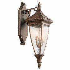 Kichler Venetian Rain Large Wall Lantern Light Brushed Bronze