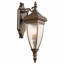 Kichler Venetian Rain Medium Wall Lantern Light Brushed Bronze