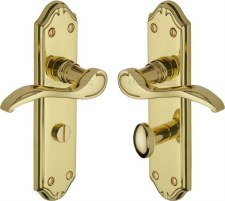 Heritage Verona MM628 Bathroom Handles Polished Brass Lacquered
