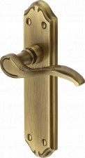 Heritage Verona MM627 Door Handles Antique Brass Lacquered