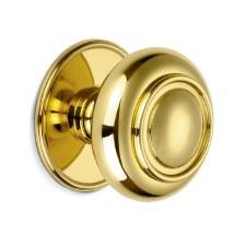 Croft Verve Centre Door Knob 4176 Polished Brass Unlacquered