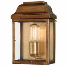 Elstead Victoria Flush Outdoor Wall Lantern Antique Brass