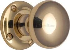 Heritage Victoria Mortice Knobs V980 Polished Brass