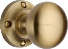 Heritage Victoria Mortice Knobs V980 Satin Brass