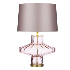 David Hunt VIE4303 Vienna Glass Table Lamp Base Only Rosebud Pink