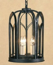 Villa Pendant Lantern Antique Black
