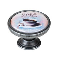 Vintage Chic Cafe de Paris Cupboard Knob Antique Brass