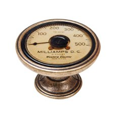 Vintage Chic Milliamp Cupboard Knob Antique Brass