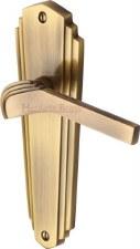 Heritage Waldorf WAL6510 Door Handles Antique Brass Lacquered