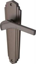 Heritage Waldorf Latch Door Handles WAL6510 Matt Bronze