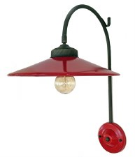 Italian Ceramic Adjustable Wall Light Rosso
