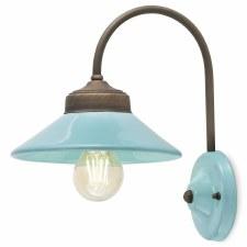 Italian Ceramic Wall Light C1630 Azzurro