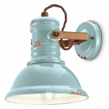 Italian Ceramic Wall Light C1693 Vintage Azzurro