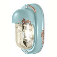 Italian Ceramic Wall Light C292 Vintage Azzurro