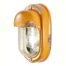 Italian Ceramic Wall Light C292 Vintage Giallo
