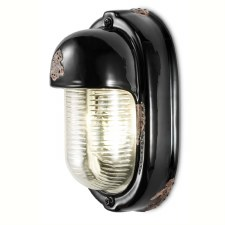 Italian Ceramic Wall Light C292 Vintage Nero
