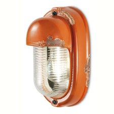 Italian Ceramic Wall Light C292 Vintage Arancio