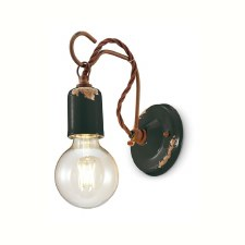 Italian Ceramic Wall Light C665 Vintage Nero