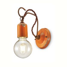 Italian Ceramic Wall Light C665 Vintage Arancio