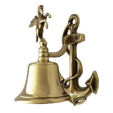Anchor Ships Bell Polished Brass